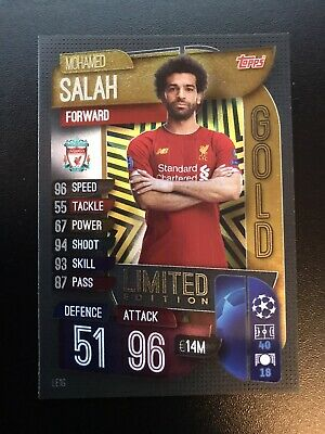 Topps MATCH ATTAX 2019/2020 / Limited Edition GOLD LE1G Mohamed MO SALAH 19/20