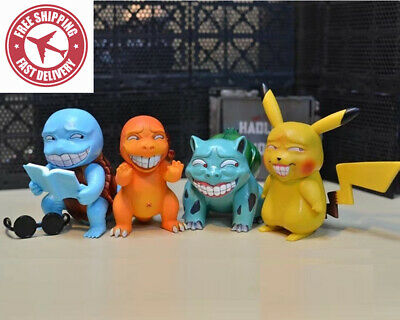 Pokemon Wretched Pikachu Freak Bulbasaur Squirtle Charmander Keychain Kids Toy
