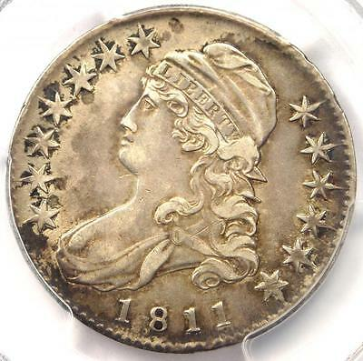 1811 Capped Bust Half Dollar 50C (Small 8) - PCGS XF40 PQ (EF40) - Rare Coin!