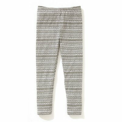 Girls Grey Print Leggings From La Redoute In Ages 4 To 10 Years Bnip