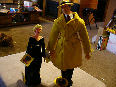 """Dick Tracy Applause Breathless Mahoney & Dick Tracy 9"""" Plush Action Figures BOTH"""