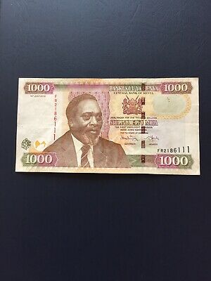 Kenyan Shilling 1000 Denomination  Bank Note. Ideal For Collection.