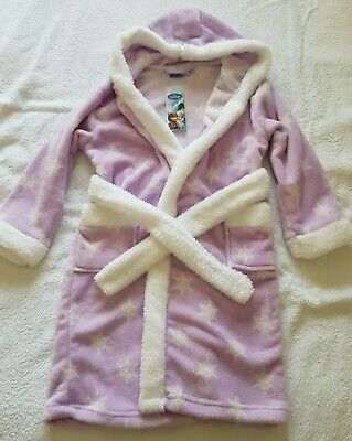 A Lovely DISNEY FROZEN Dressing Gown With Hood Age 6-7Years