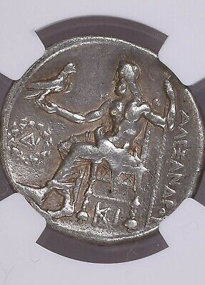 "NGC Greek Silver Tetradrachm ALEXANDER III The Great, 4th Century BC ""VERY FINE"""
