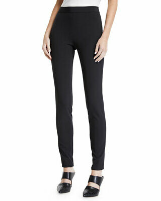 Theory Women's Pants Sz 0 High Waist Legging Black Becker Stretch Classic $285