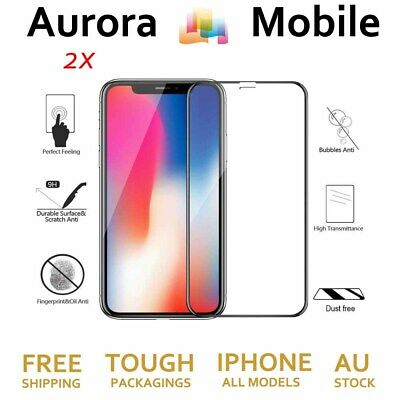 2X3D Tempered Glass Screen Protector Guard iPhone 11 Pro 6 7 8 PLUS X XR Max SE2