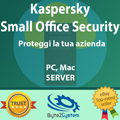 Kaspersky Small Office Security 2020 (5,10,20,25 Device + 1,2,3 Server) ESD NEW