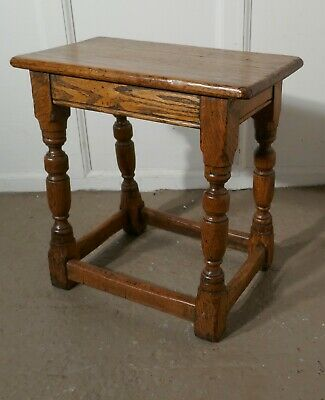 19th Century Golden Oak Joint Stool