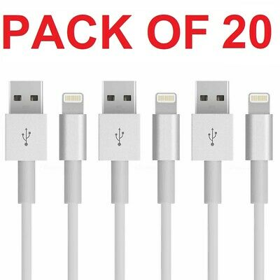 20X USB Lightning Cable Data Cord For Apple Charger iPhone iPad 7 X 8 6 5