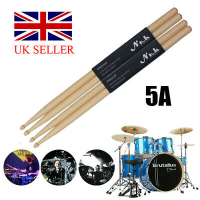 """10 Pairs Drum Sticks 5A 16"""" Drumsticks Maple High Quality Wood Feel Johnny Brook"""