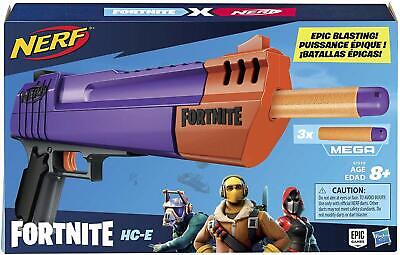 2 For $25.00 BRAND NEW - NERF Fortnite HC-E Mega Dart Blaster -- FREE SHIPPING