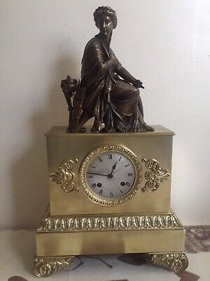 Antique French Empire Early 19 th Century Clock