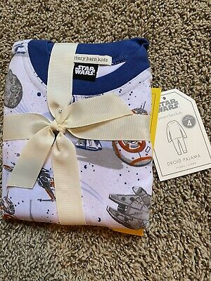Pottery Barn Kids Star Wars Droid Cotton Tight Fit Pajamas Size 4