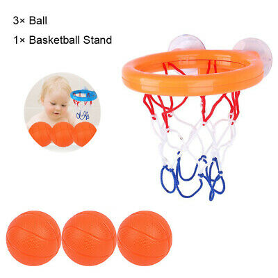 Kids Bath Basketball Hoop /& 3 Balls Bathtub Shooting Water Play Game Toys Set UK