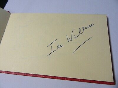 Ian Wallace Football Player Autograph Signed Page - Coventry Forest Scotland Etc