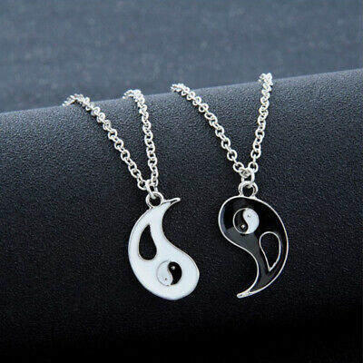 Yin Yang Pendant Black White Necklaces Couples Lover Best Friend Gift Jewelry