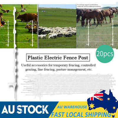 20X Strip Graze Tread In Poly Posts Electric Fence Wire Tape Fencing Post New