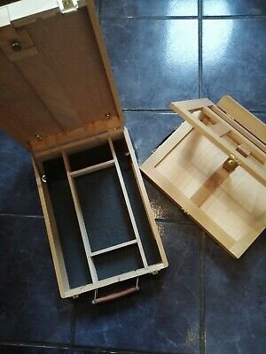 Artist Easel Art Drawing Painting Wood Table Sketching Box. & Push and Pull