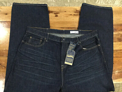 rs#3 Relaxed Fit Stretch Denim 36x30 NWT Cremieux Premium Mens Blue Jeans