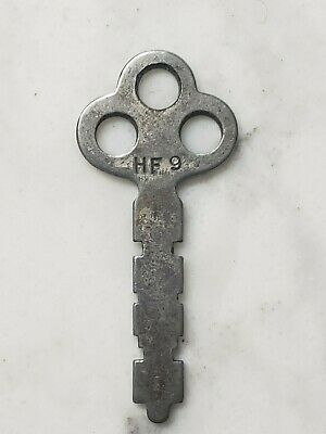 Vintage Corbin HF9 Silver Furniture Padlock Lock Skeleton Key