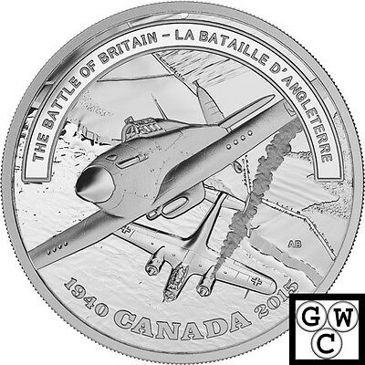 2015 Battle of Britain-Battlefront Prf $20 Silver Coin 1oz .9999 Fine(16997)(NT)