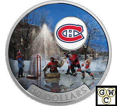2017 $10 1/2oz .9999FINE SILVER PASSION TO PLAY:MONTREAL CANADIENS®(NT)(17858)