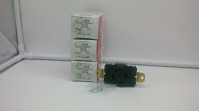 (lot of 3) Pass & Seymour L1530-R Turnlock Receptacle 30A, 3PH, 250V