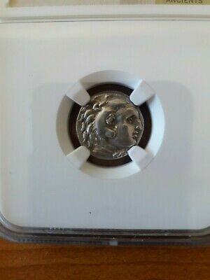 Alexander the Great III AR Drachm Coin 336 BC - Certified NGC Choice XF - Rare!