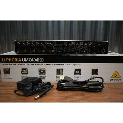 Behringer U-Phoria UMC404HD 4x4 24 Bit USB Audio Recording Interface Midas
