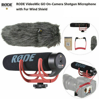 PRO RODE VideoMic Go Super Cardioid Directional Microphone With Shock Mount T8B3