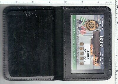 2020 CEA ASSISTANT CHIEF CARD in an LEATHER FAMILY MEMBER WALLET NOT LBA SBA PBA