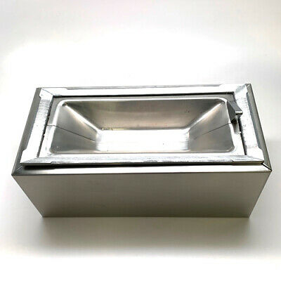 Continental Manufacturing 749-SS Stainless Steel Wall Urn Ash Tray w/Wall Mount