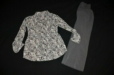 Preowned 2 Piece Maternity Career / Office Outfit MOTHERHOOD Size PS Pants S Top