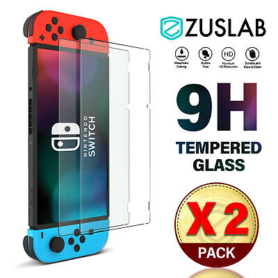 For Nintendo Switch Screen Protector ZUSLAB 9H Full Cover Tempered Glass X 2