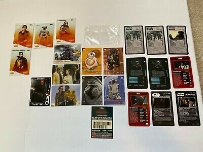 2016 2017 2018 2019 NYCC Topps Exclusive STAR WARS Promo Card LOT & TOP TRUMPS