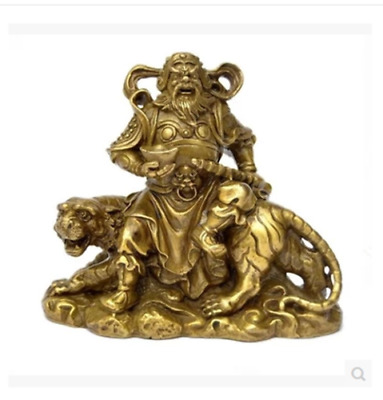 Pure brass martial god of wealth Buddha home furnishing small Statue