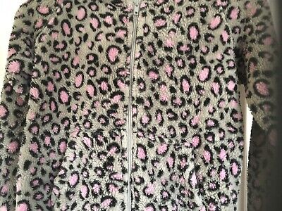 Gorgeous Next Leopard Print Onesie Not Gerber Nightwear  with hood age 8 years