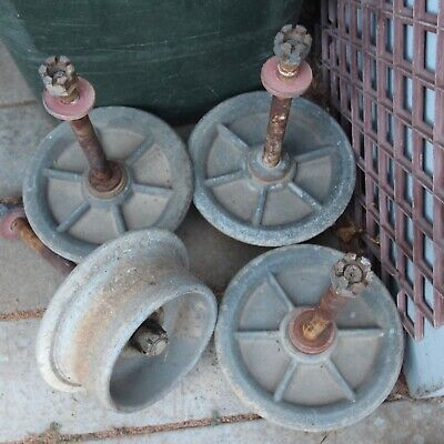 Antique/ Vintage 4 rail track wheels