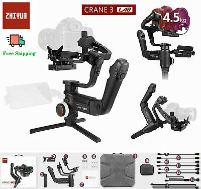 ZHIYUN Crane 3 Lab Gimbal Master Kit 3-Axis Hand-held Stabilizer for DSLR Camera
