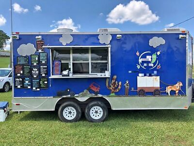Turnkey Business 2016 - 18' Freedom Kitchen Food Concession Trailer with Restroo