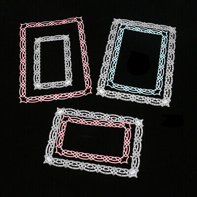 3pcs Rectangle Lace Frame Metal Cutting Dies Scrapbook Craft Card Making Die Cut