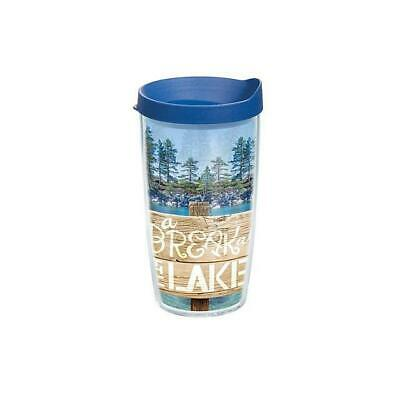 Tervis Tumbler-16 Oz. A BREAK AT THE LAKE  W/Lid-New W/Tag!