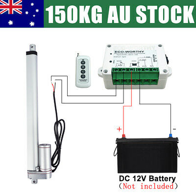 1500N Linear Actuator 12V DC Electric Motor Max Load 150KG/330lbs for Telescopic