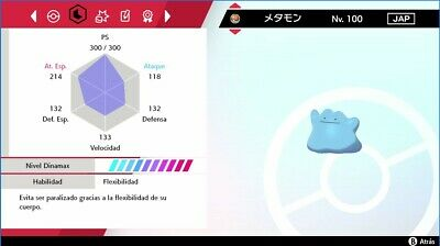 Pokemon shiny Ditto 6 ivs japones Pokemon sword/shield
