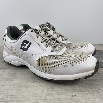 FJ Footjoy Athletic Spikeless Golf Shoes White - Mens Size 11.5