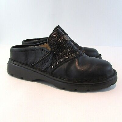 Double H Boots Co. Black Leather Western Boots Mules Clogs Size 6 M