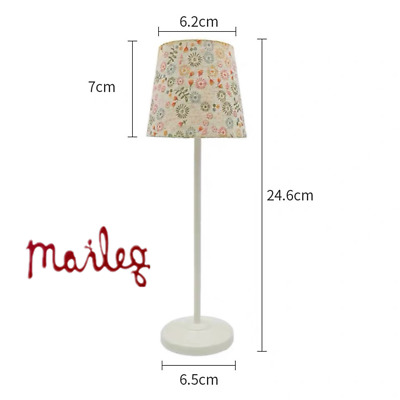 Maileg TEXAS Distressed Floor Lamp Can Real Light w/ Button Cell Doll B-day Gift
