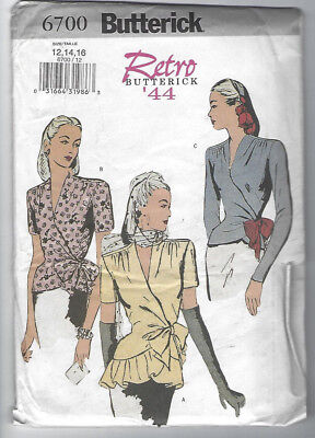 Butterick Sewing Pattern 6217 Misses/' Loose Fitting Blouse Shirt