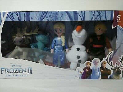Disney Frozen 2 Plush Collector Set - BRUNI SALAMANDER Elsa Kristoff Olaf Sven