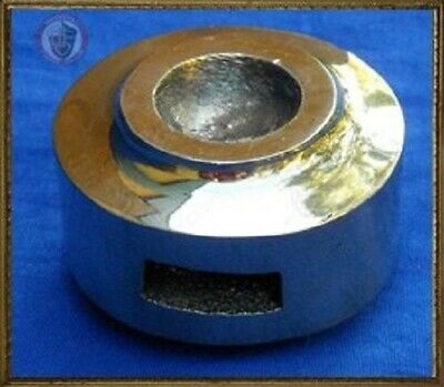 Brass Round Pommel with Domed Inset for sword ends and fencing or HEMA sports